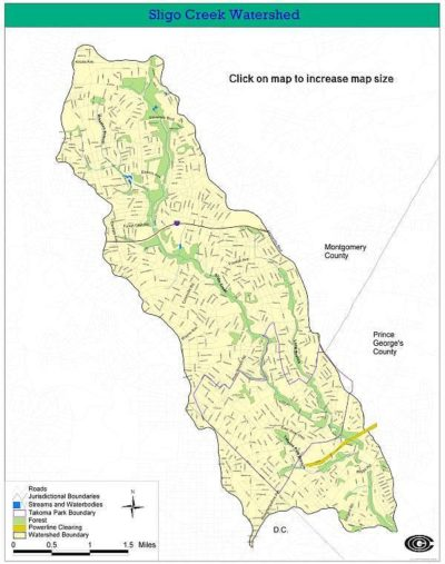 Council of Governments Sligo Watershed Map