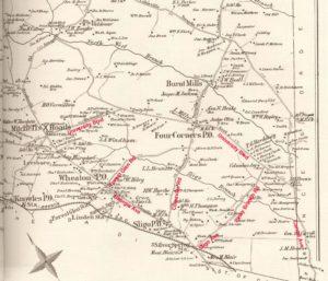 Sligo 1879 with modern roads