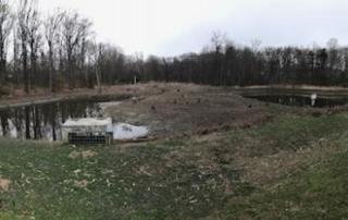 stormwater ponds before a storm near University Boulevard