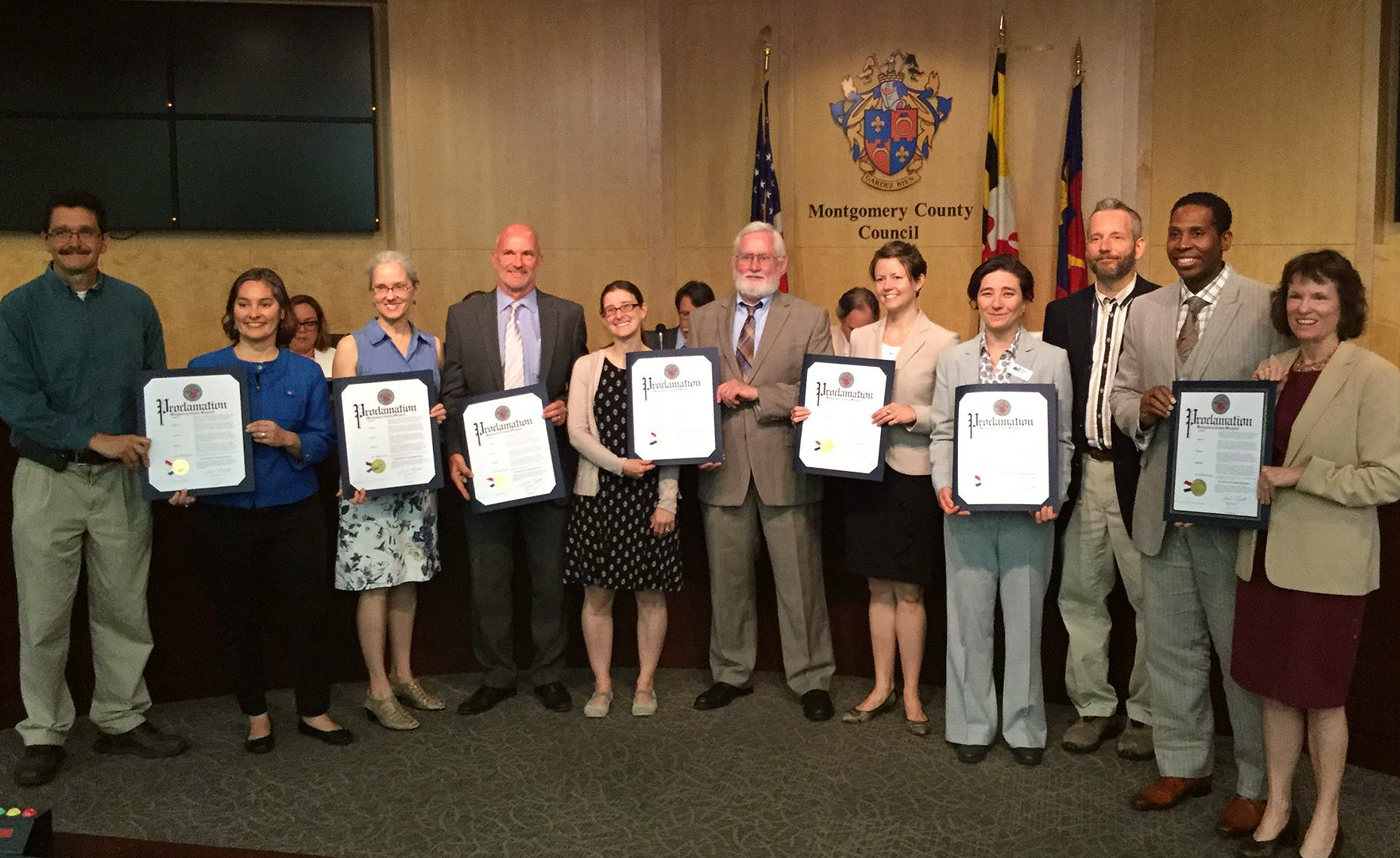 The County Council recognized FOSC's accomplishments at a ceremony on Sept 26, 2019.