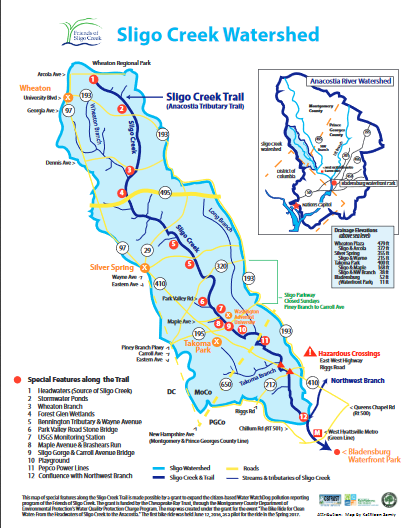 Special Features of Sligo Creek and its Watershed