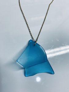 Glass jewelry created from Sligo litter.