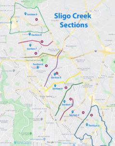 Sligo Creek Section Map