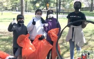Spring 2021 Sweep the Creek Sligo Middle School crew