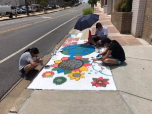 Students create artwork and awareness about storm drain flowing directly to Sligo Creek