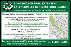 Long Branch Trail Extension Concept meeting