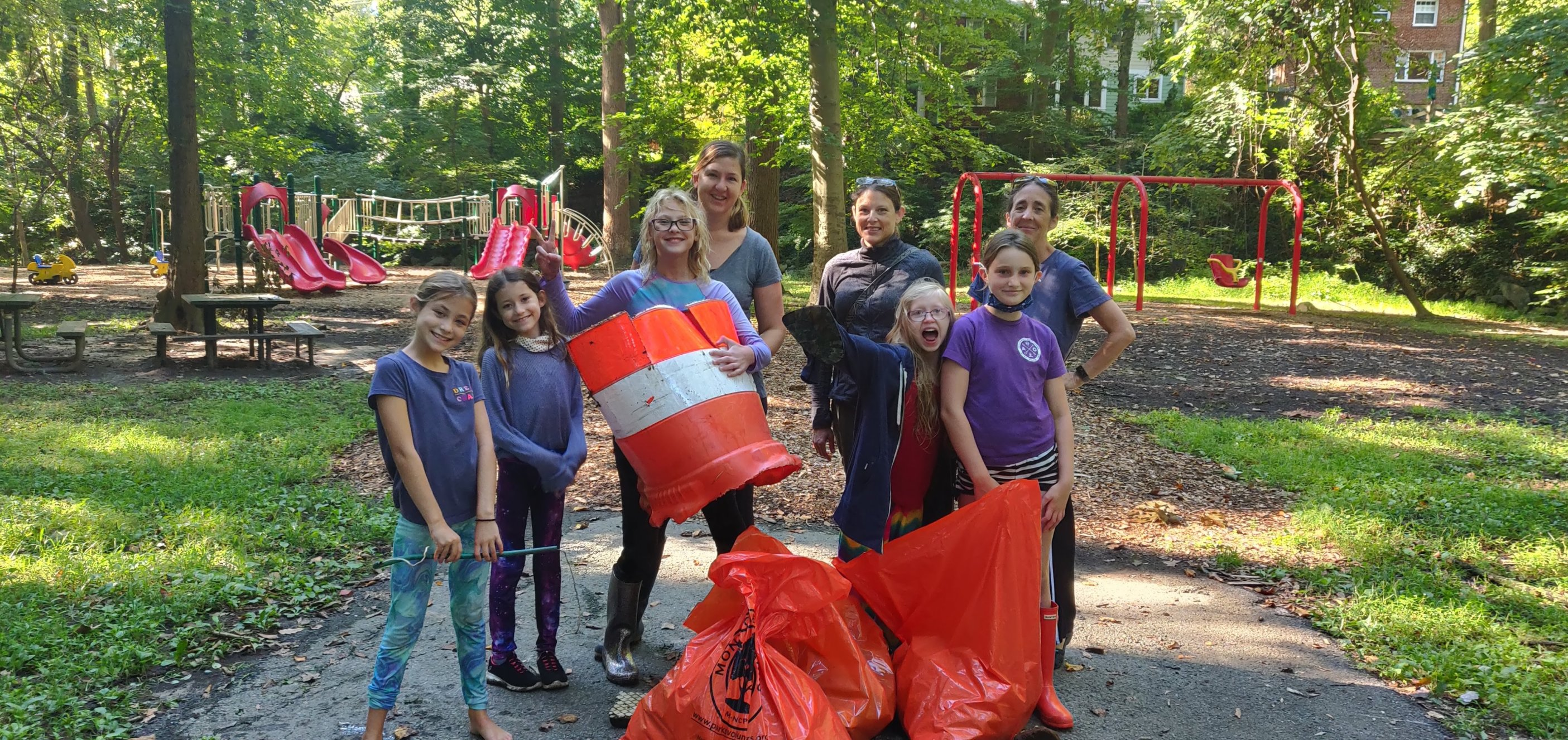 The mighty sweepers of Girl Scout troop 34039 in Section 10 Lower Long Branch